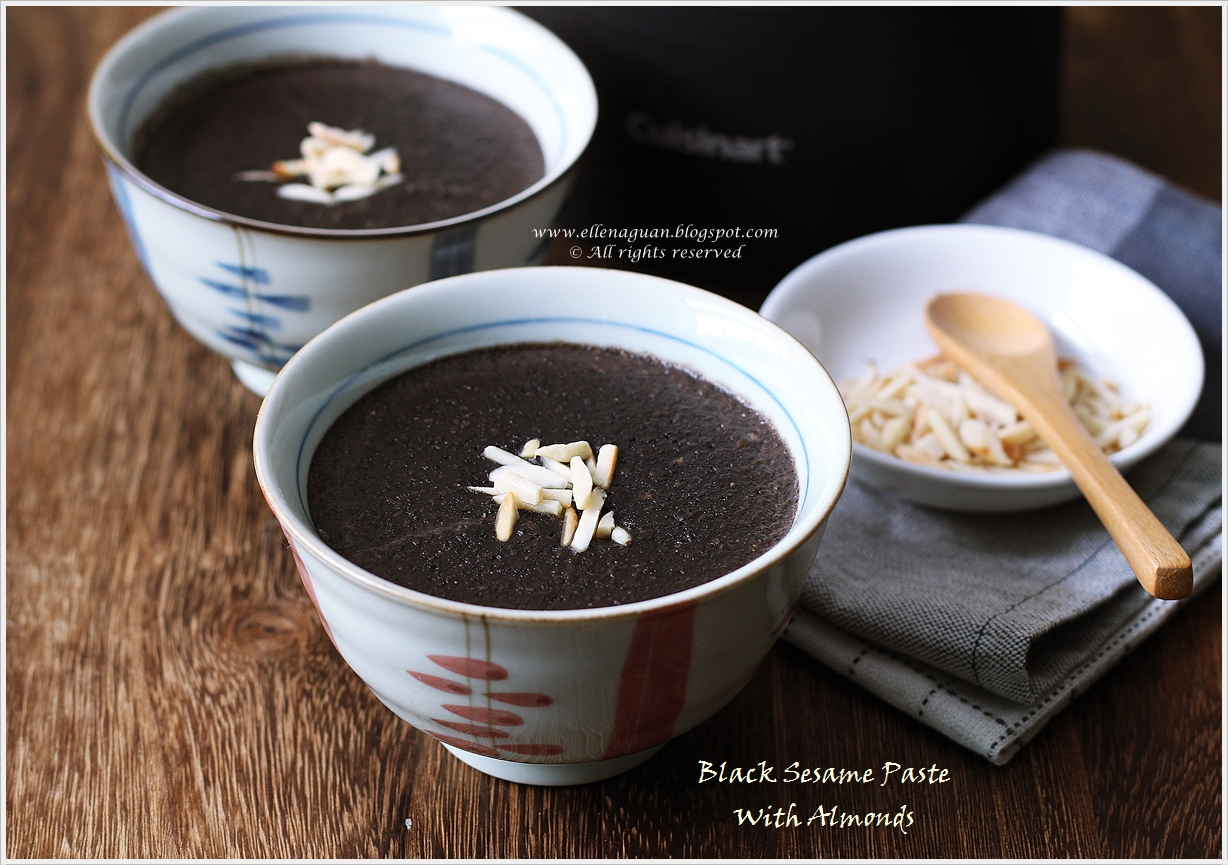 ... Black Sesame Paste With Almonds Using Cuisinart Hot And Cold Blender