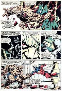 Captain Marvel #26 marvel comic 1970s bronze age comic page art by Jim Starlin