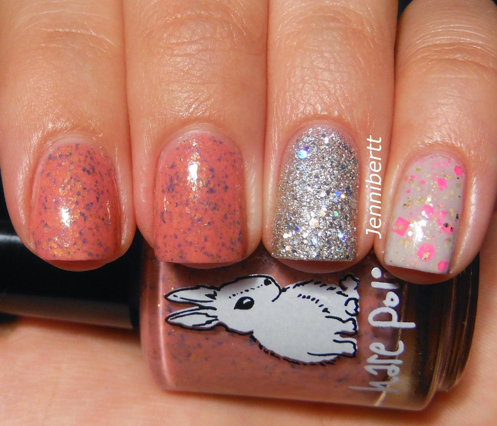 Es Nail Los Angeles: Jennibertt's Nails: Simple Swatch(es)- Hare Polish And Zoya