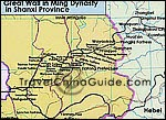 Map of Great Wall in Shanxi