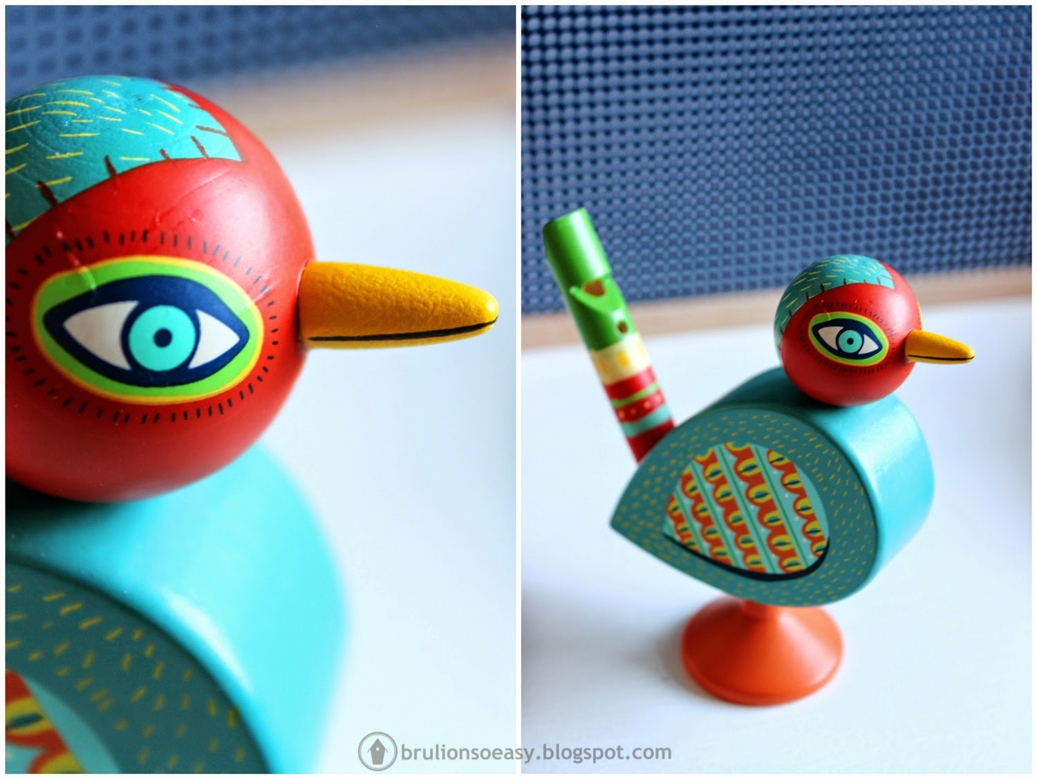 djeco wooden bird whistle