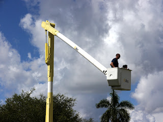 Bucket Truck Rides at the Big Toy & Truck Event in Fort Lauderdale