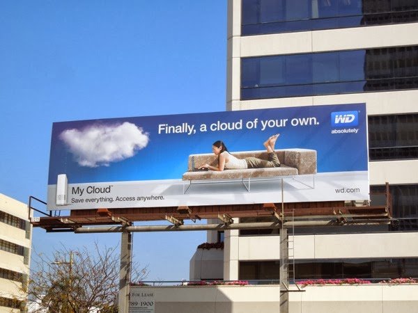 Finally a cloud of your own My Cloud WD Absolutely sofa billboard