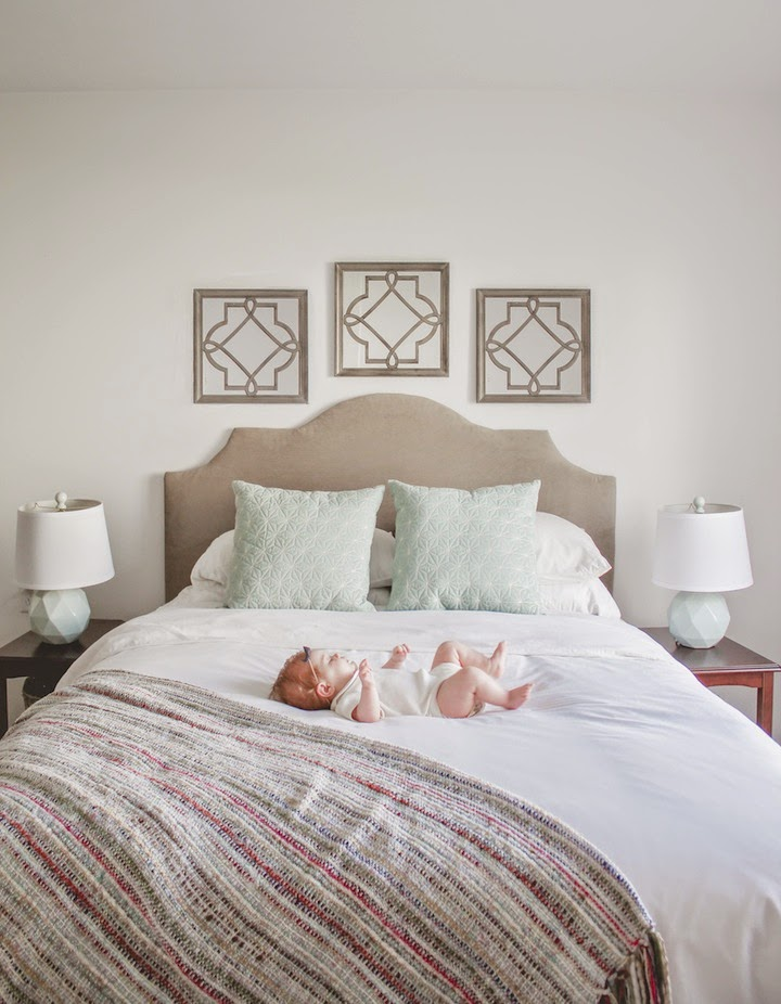 Madeline tyler vance 15 diy upholstered headboard for Bedroom fabric ideas