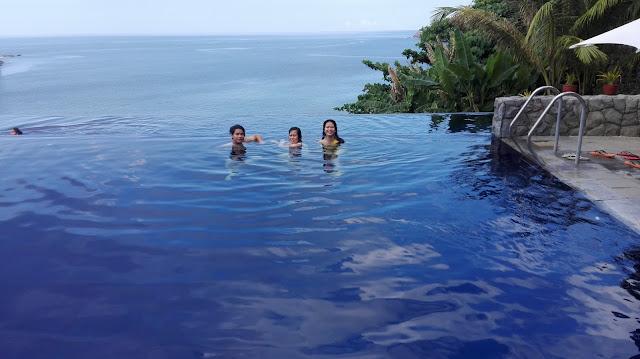 infinity pool at club punta fuego