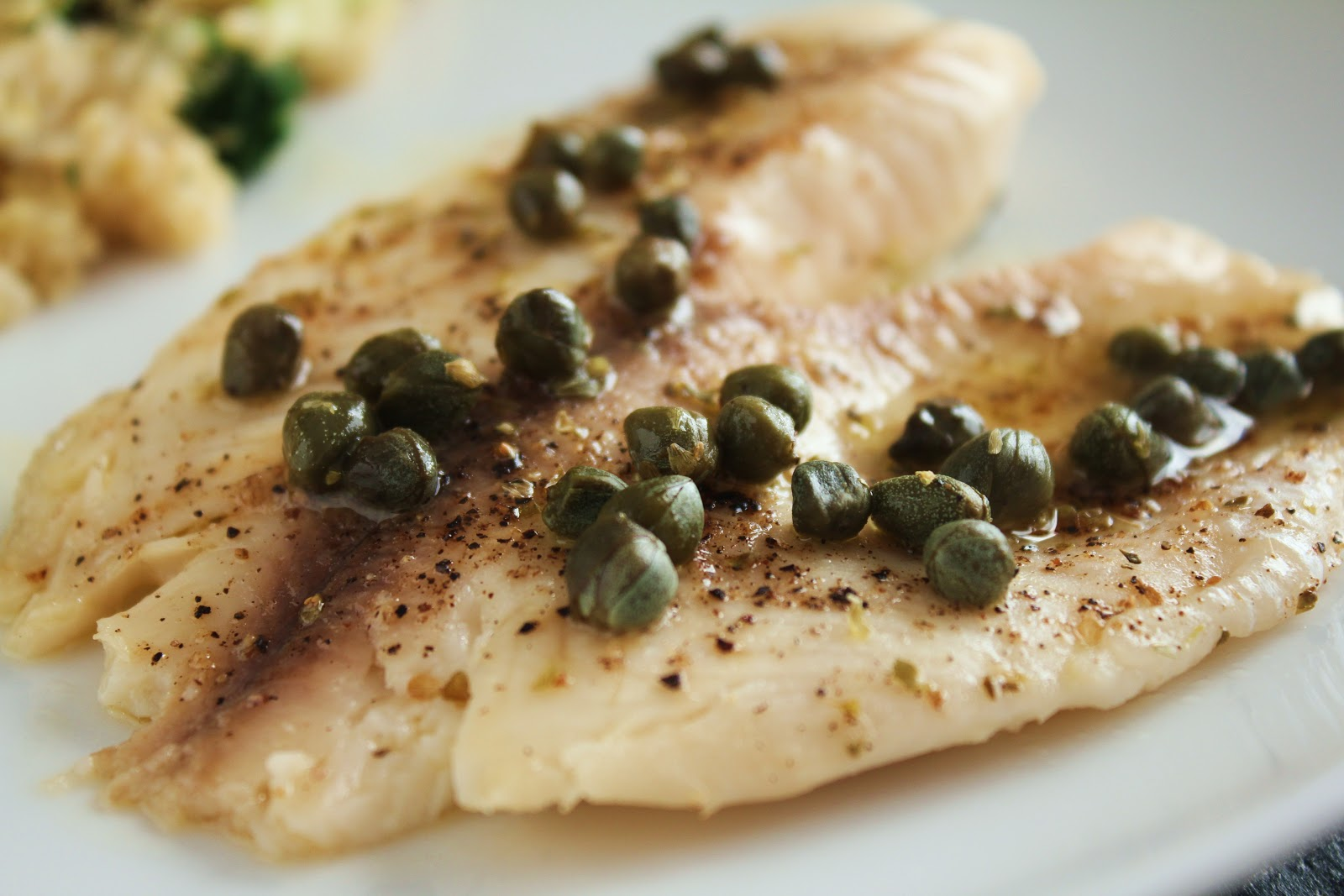 Delicious as it looks lemon butter baked tilapia with capers for Lemon butter caper sauce for fish