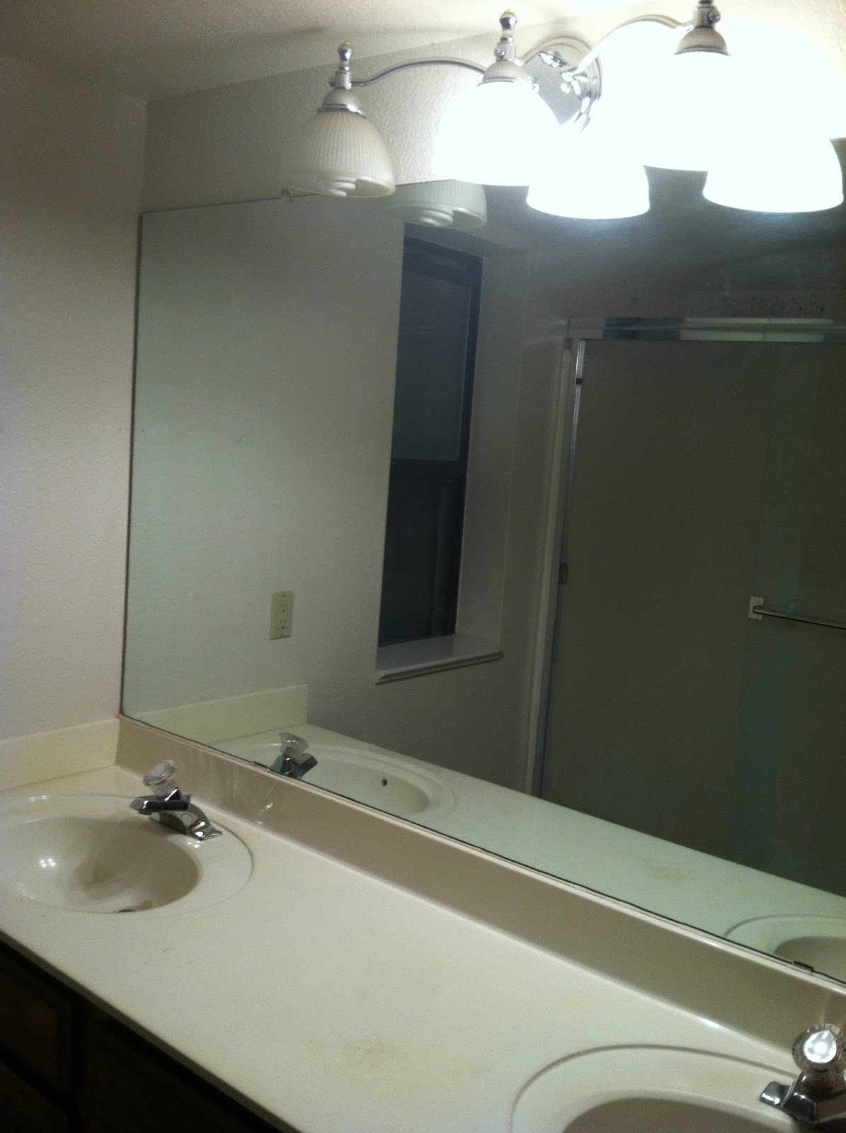 New Here is what Jill us bathroom looked like before she got started