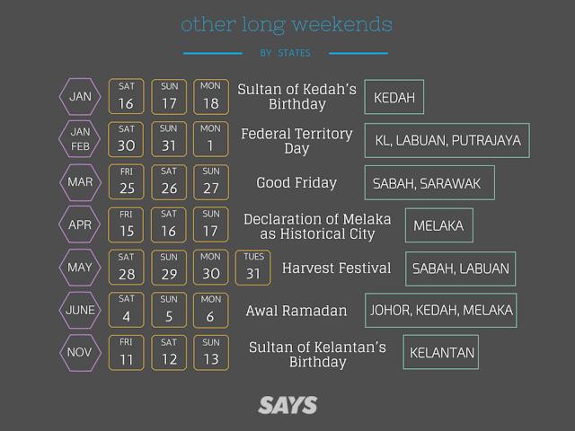 Cuti Hujung Minggu Yang Panjang Tahun 2016