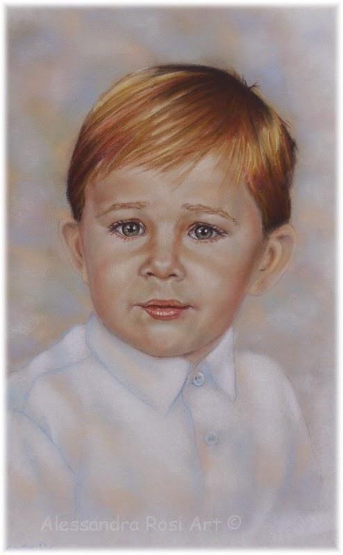 hand-painted children portraits, boy's portrait painting, custom portrait