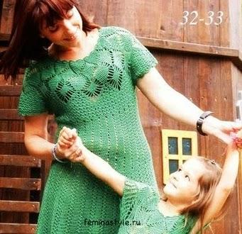 Vestido Verde Esmeralda a Crochet