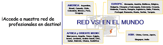 Red internacional VSI, Red de Indor en el exterior