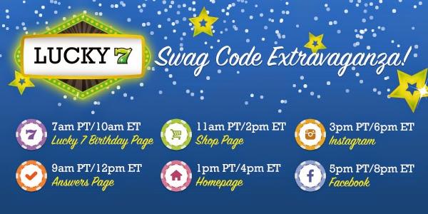 Lucky 7 Swag Code Extravaganza