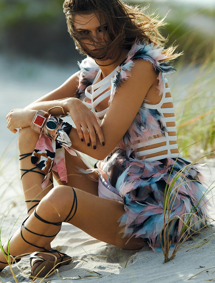 Kasia Struss for Numéro France May 2015, photographed by Hans Feurer