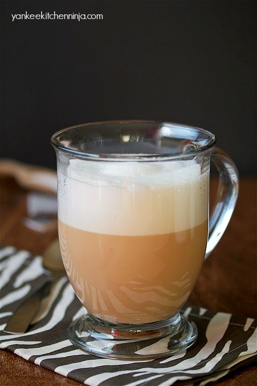 caramel chai tea latte