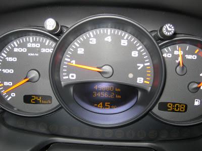 Porsche 911 -4.5 degrés au compteur!