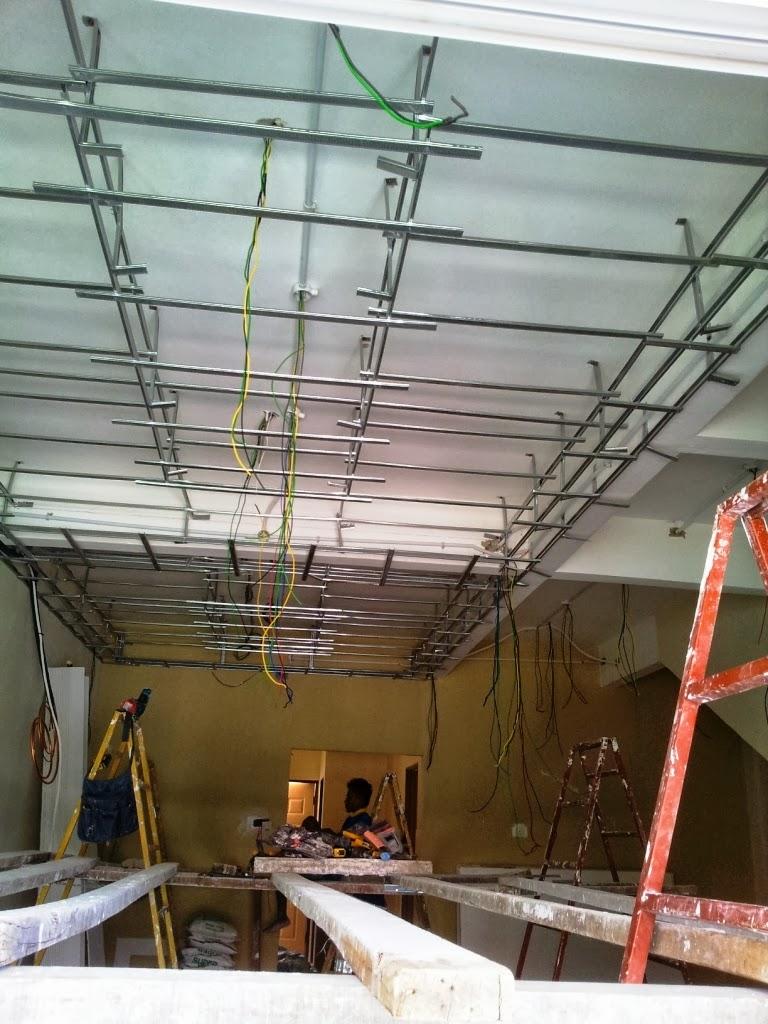 Rahsia Hatiku Home Progress Plaster Ceiling Grill Wiring Lampu Rumah Dulu Plan Siap2 Nak Letak Kipas Aircond Semua Kat Mananampak Tak Betapa Banyaknya Beam Ku Ni Susah Weii Design