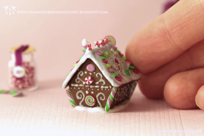 how to make polymer clay look like swirling snow