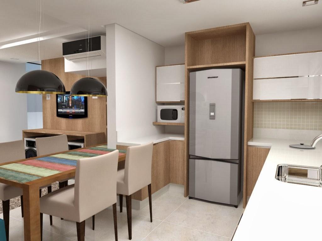 Na lateral da cozinha foi destinada aos eletros e móveis aéreos  #304C5E 1024 768