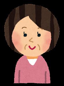 おばさんのイラスト(中年女性)2