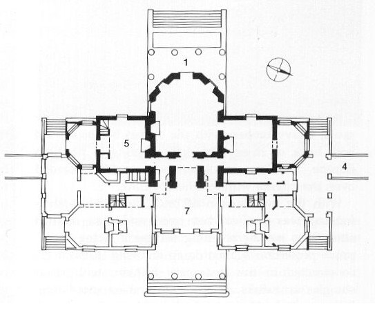 Art now and then thomas jefferson for Monticello floor plan