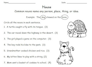 Printables Noun Worksheets 2nd Grade smiling and shining in second grade noun worksheets worksheets