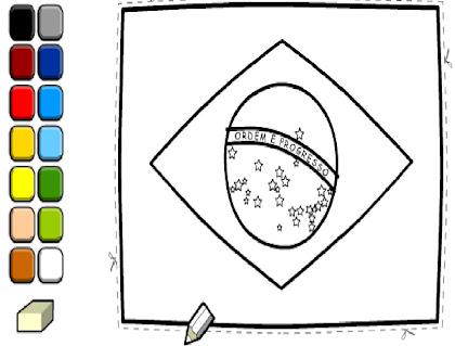 Vamos colorir a bandeira do Brasil!