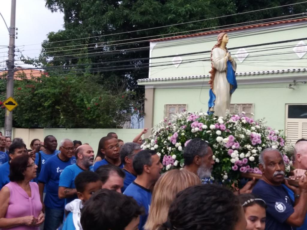 TERÇO DOS HOMENS DA PNSC-STA.CRUZ NA PROCISSÃO DA IMACULADA CONCEIÇÃO - 2016