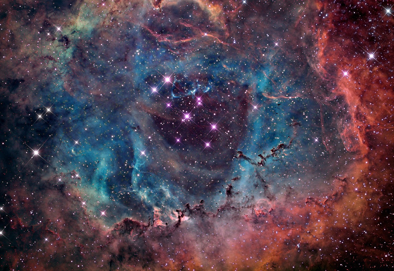 The rosette nebula earth blog for Nebula material