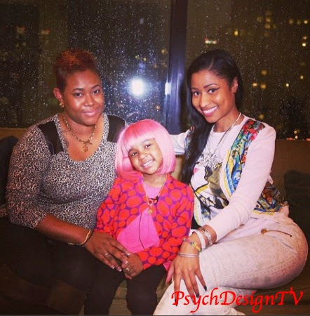 #PinkWigForMiyah! Nicki Minaj Gives 5-Year Old Fan and Cancer Patient Miyah One of Her Famous Pink Wigs!