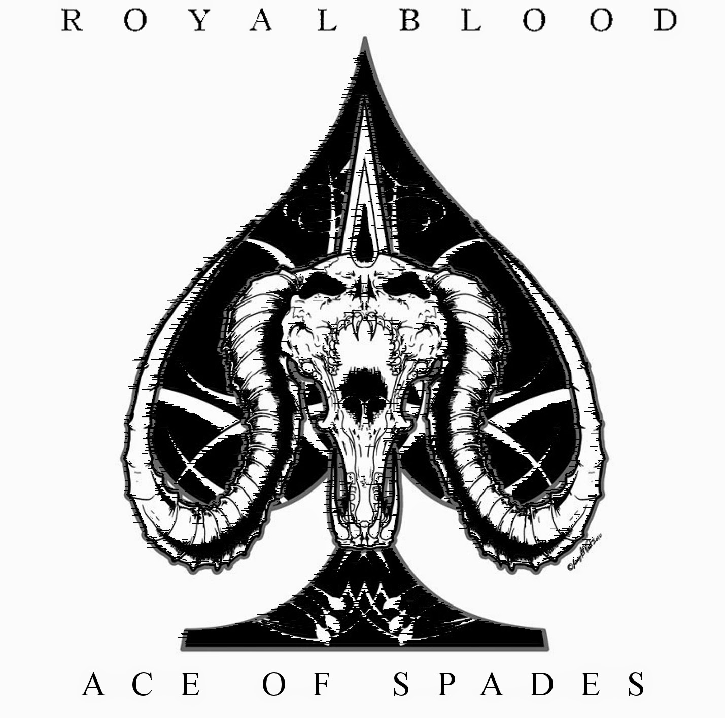 royal blood ace of spades. Black Bedroom Furniture Sets. Home Design Ideas