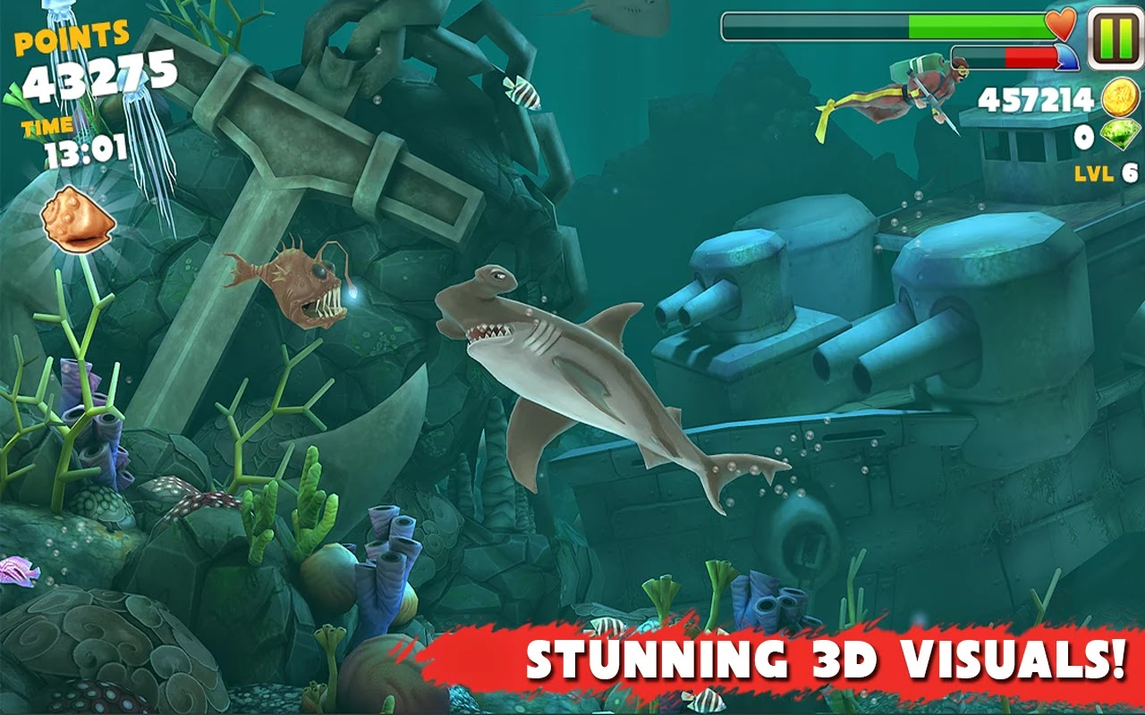 Android Hungry Shark Evolution Apk resimi 3