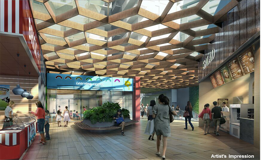 The Poiz Residences Singapore dining Space in Commercial Area