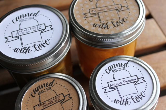 So, help yourself to these super cute canning labels, and label away!