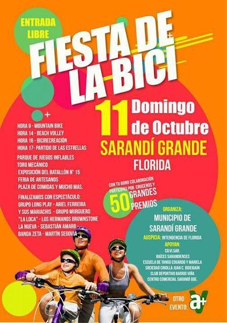Festival de la bici en Sarandí Grande (Florida, 11/oct/2015)