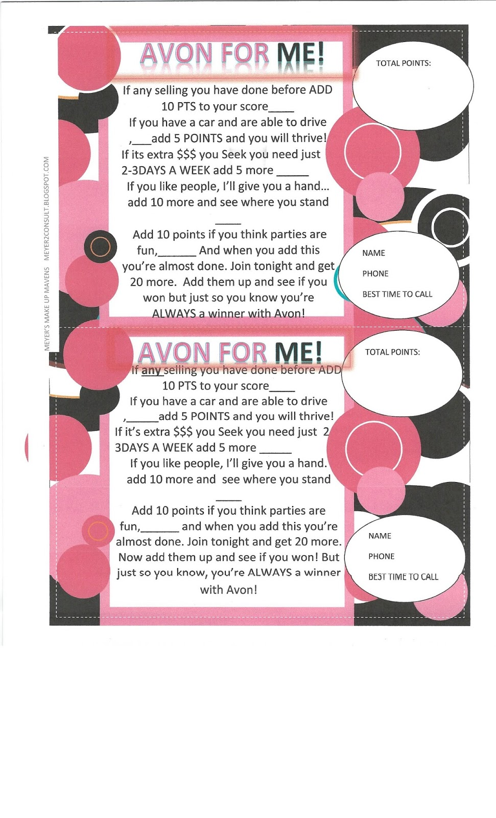 Meyers Make up Mavens: How to have the perfect Avon Grand Opening