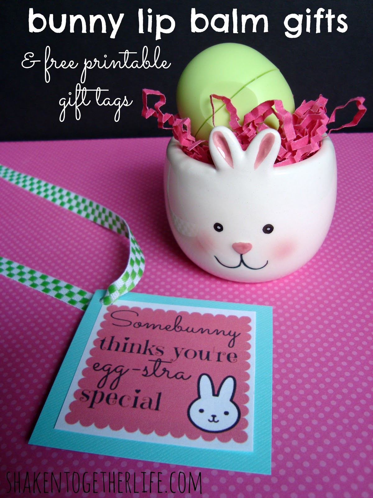 Bunny lip balm gifts for easter printable tags if you need a quick inexpensive easter or spring gift for teachers your baby sitter co workers teens and tweens this one could be it negle