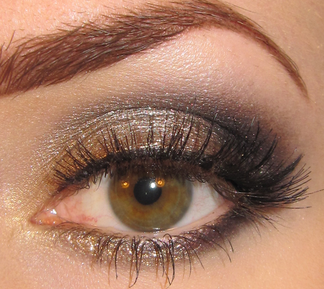 glitter is my crack gold champagne and black eye makeup tutorial. Black Bedroom Furniture Sets. Home Design Ideas