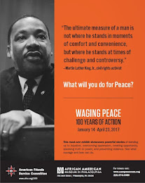 Waging Peace: 100 Years of Action -January 14 - April 23, 2017