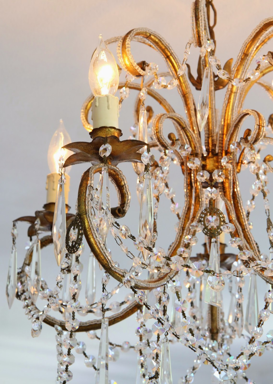 Antique Crystal Chandelier for the Master Bedroom; Nora's Nest