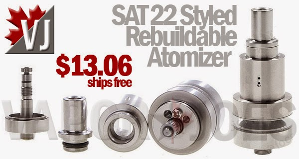 Sat 22 Styled Rebuildable Atomizer with Reduced Chamber