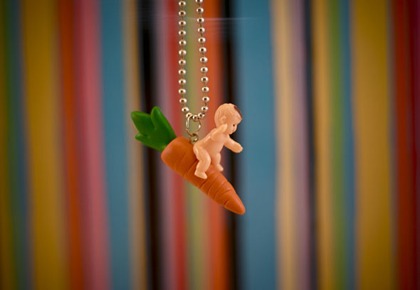 Carrot Jockey necklace (long story)