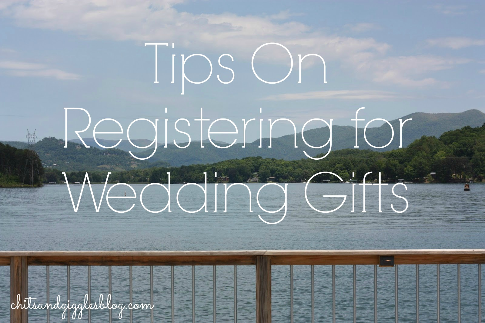 Tips for Registering for Wedding Gifts