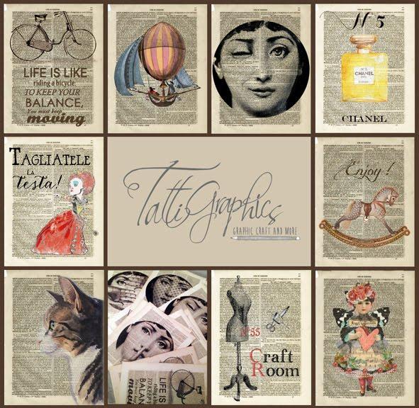 Ti piacciono le mie stampe su pagine di libri antichi ?