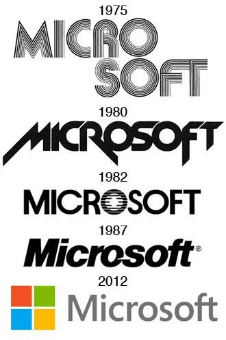 Logos of Microsoft