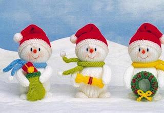 вязание спицами, снеговик, Новогодние идеи,