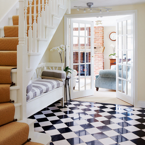 New Home Interior Design Traditional Hallway: Flooring Ideas For Hallways
