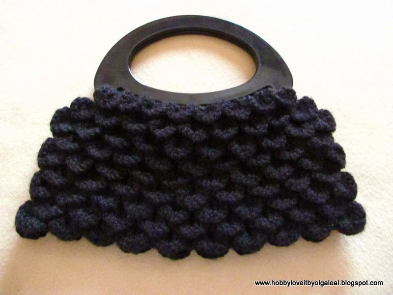HOBBY LOVE IT by Olga Leal: BOLSA TEJIDA EN CROCHET CON PUNTO ESCAMA