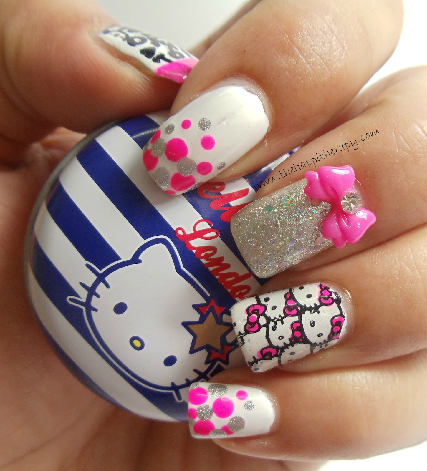 Konad stamping nail art hello kitty – Great photo blog about ...