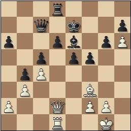 Partida de ajedrez Jamieson vs. González Mestres en 1965, posición después de 33.Af3