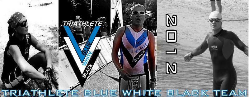 Triathlete Blue White Black Team